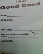 Good Deed Card